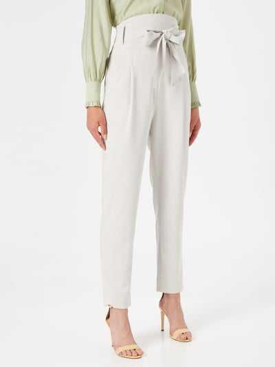 Custommade Pantalón plisado 'Pinja' en gris claro, Vista del modelo