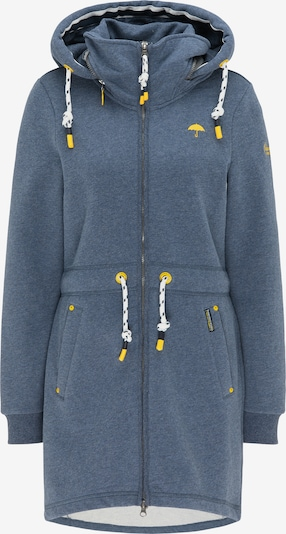 Schmuddelwedda Zip-Up Hoodie in mottled blue, Item view