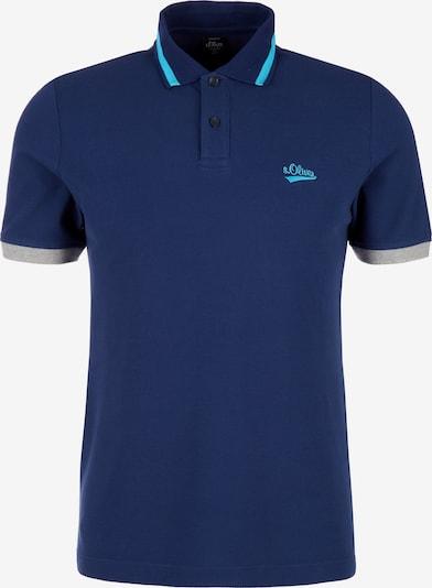 s.Oliver T-Shirt en marine / bleu clair: Vue de face