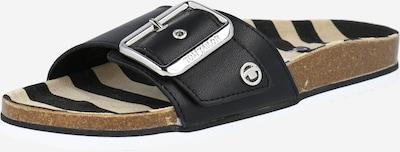 TOM TAILOR Pantolette in braun / schwarz, Produktansicht