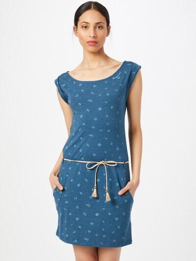 Ragwear Kleid 'Tag B Organic II' in rauchblau / braun / weiß, Modelansicht