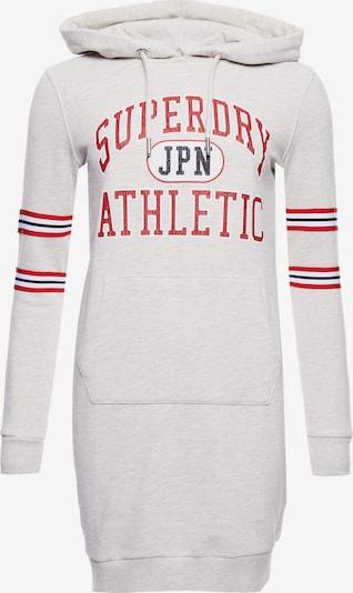 Superdry Robe 'Varsity' en rouge / noir / blanc chiné, Vue avec produit
