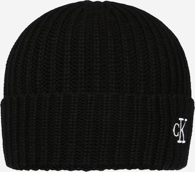 Calvin Klein Jeans Mütze in schwarz / weiß, Produktansicht
