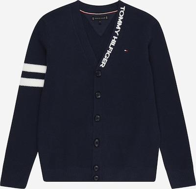 TOMMY HILFIGER Pletená bunda - námořnická modř / bílá, Produkt