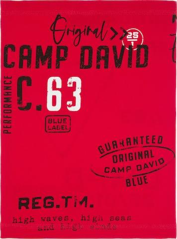 CAMP DAVID Loop-Schal mit Used Print in Rot