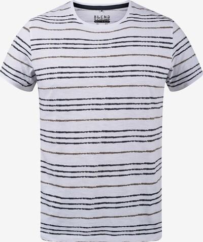 BLEND Rundhalsshirt 'Valle' in mischfarben / weiß, Produktansicht
