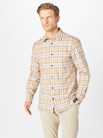 SCOTCH & SODA Hemd in beige / blau / hellbraun: Frontalansicht