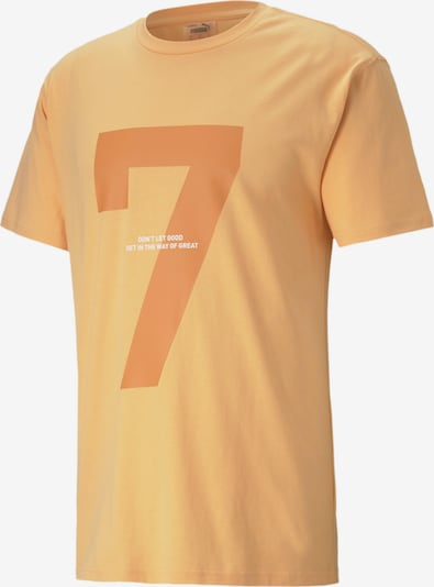 PUMA T-Shirt 'Tonal' in orange / weiß, Produktansicht