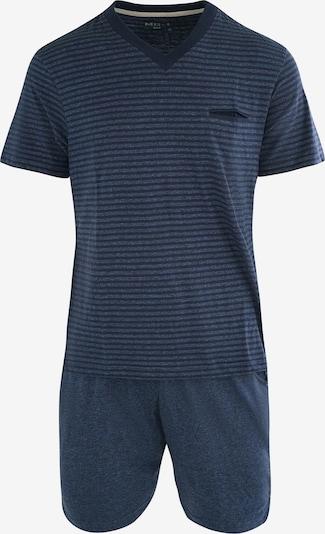 MG-1 Schlafanzug-Set ' Shorty ' in dunkelblau, Produktansicht