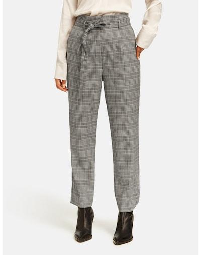 TAIFUN Hose in greige / graumeliert / schwarz, Modelansicht