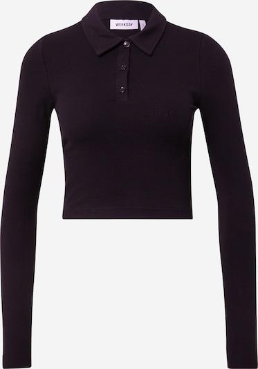 WEEKDAY T-shirt 'Erin' en noir, Vue avec produit