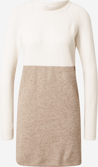 ONLY Kleid in creme / braunmeliert / weiß, Produktansicht