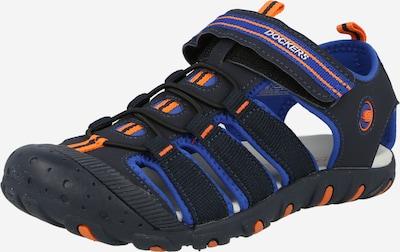 Dockers by Gerli Zapatos abiertos en navy / azul real / naranja / blanco, Vista del producto