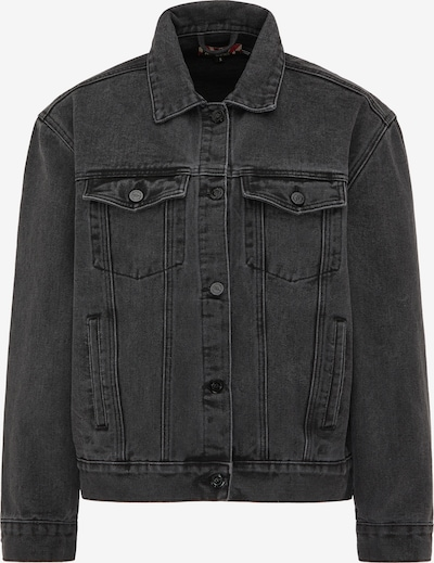 myMo ROCKS Jacke in black denim / weiß, Produktansicht