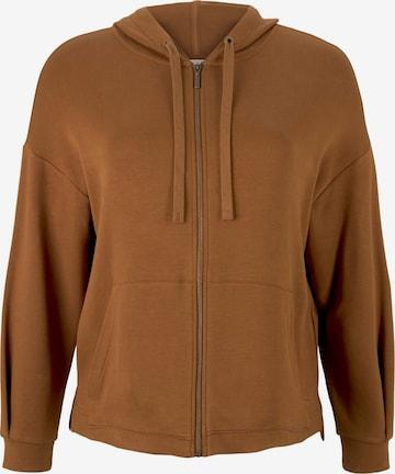 MY TRUE ME Zip-Up Hoodie in Brown