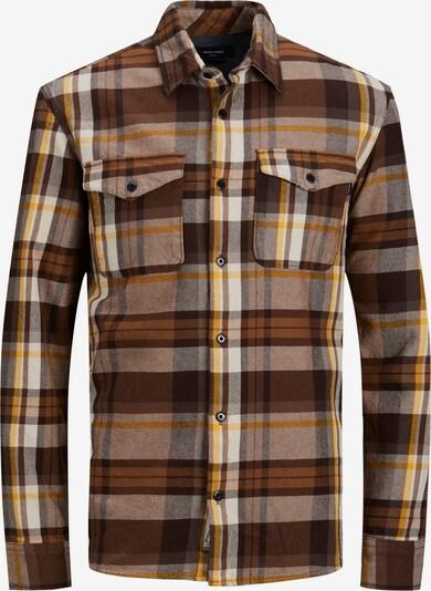 JACK & JONES Hemd in braun / gelb / weiß, Produktansicht