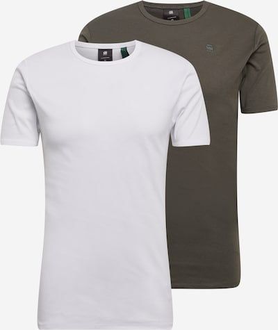 G-Star RAW Tričko - kaki / biela, Produkt