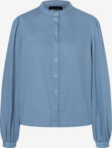 PIECES Bluse 'Pali' in Blau
