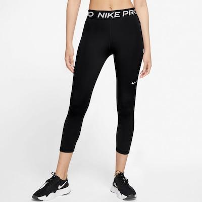 NIKE Sportovní kalhoty - černá / bílá, Model/ka