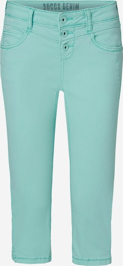 Soccx Coloured Capri Jeans LY:IA mit Knopfleiste in blau, Produktansicht