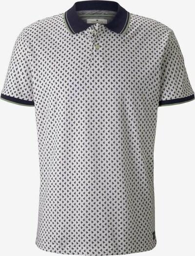 TOM TAILOR Poloshirt in schwarz / weiß, Produktansicht