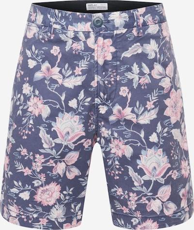 REPLAY Shorts in navy / rauchblau / rosa / weiß, Produktansicht