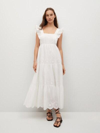 MANGO Kleid 'BIMBA' in weiß, Modelansicht