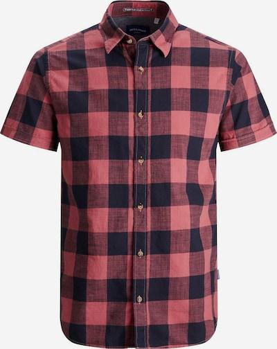 JACK & JONES Overhemd in de kleur Lichtrood / Zwart, Productweergave