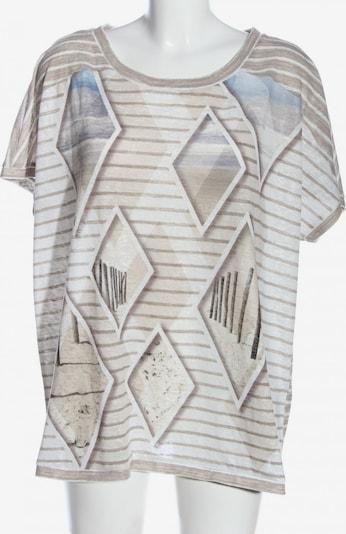 SAMOON T-Shirt in 5XL in hellgrau / schwarz / weiß, Produktansicht