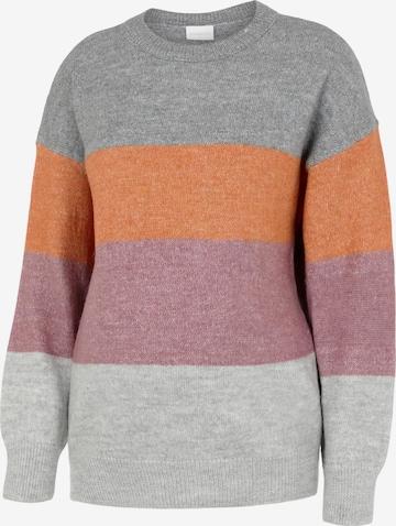 MAMALICIOUS Sweater 'Donita' in Grey