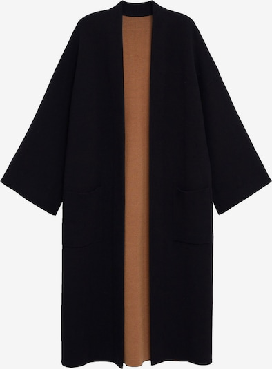 MANGO Manteau en tricot 'Sol-A' en noir, Vue avec produit