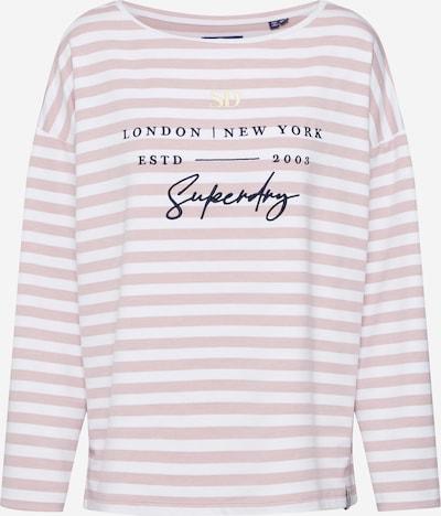 Superdry Shirt in dunkelblau / pink / weiß, Produktansicht