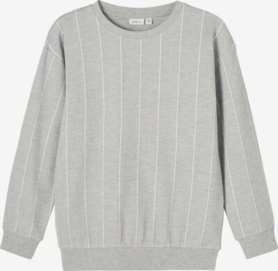 NAME IT Sweatshirt 'Dirk' in graumeliert / weiß, Produktansicht