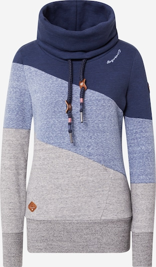Ragwear Sweatshirt 'RUMIKA' in navy / blaumeliert / graumeliert, Produktansicht