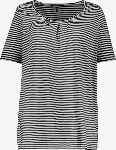 Ulla Popken Shirt in schwarz / weiß: Frontalansicht