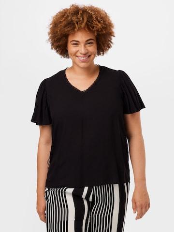 Vero Moda Curve Shirt 'NADS' in Schwarz