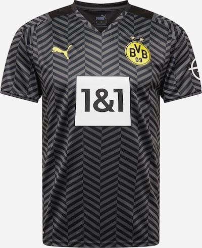 PUMA Tricot 'Borussia Dortmund 21-22 Auswärts' in de kleur Geel / Grijs / Antraciet, Productweergave