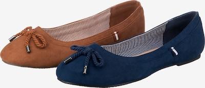 ambellis Schuh in dunkelblau / braun, Produktansicht