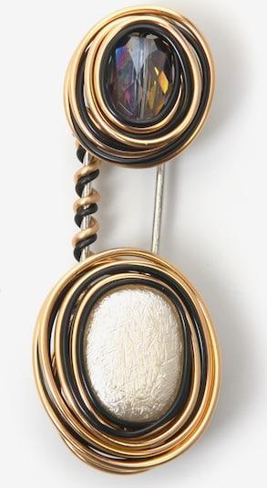 J. Jayz Brosche in gold / weiß, Produktansicht
