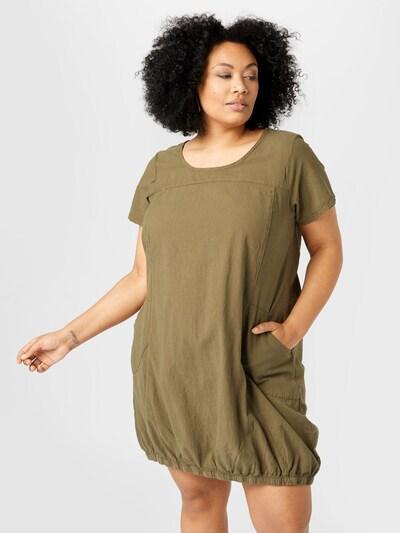 Zizzi Kleid 'JEASY' in khaki, Modelansicht