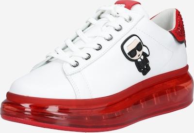 Karl Lagerfeld Niske tenisice 'Kapri Kushion' u crvena / bijela: Prednji pogled