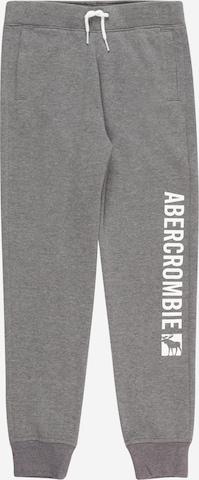 pelēks Abercrombie & Fitch Bikses