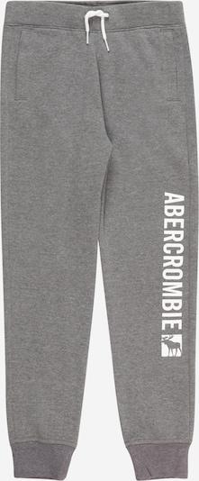 Abercrombie & Fitch Pantalón en gris moteado / blanco, Vista del producto