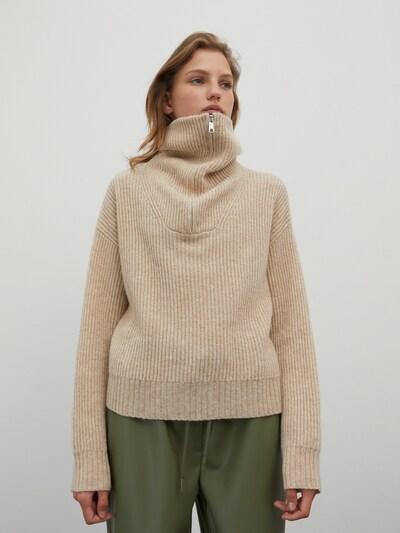EDITED Pullover 'Akela' in beige, Modelansicht