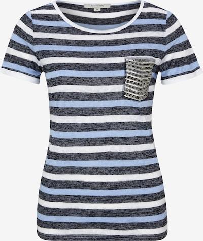 Ci comma casual identity Shirt in rauchblau / grau / mischfarben / schwarzmeliert / weiß, Produktansicht