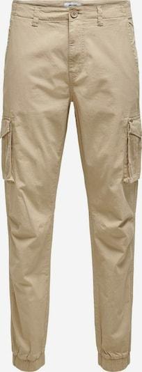Only & Sons Pantalon cargo en noisette, Vue avec produit