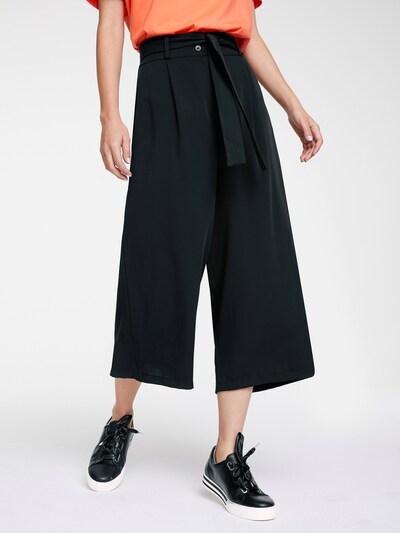 heine Hlače 'Culotte' | črna barva, Prikaz modela