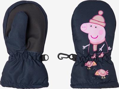 NAME IT Gants 'Peppa Pig' en saphir / rose / noir, Vue avec produit