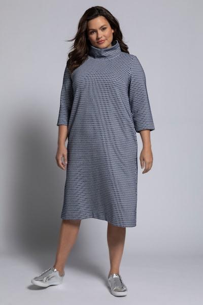 Ulla Popken Kleid in dunkelblau / weiß, Modelansicht
