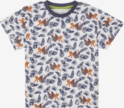 Sense Organics T-Shirt 'Jannis' en bleu-gris / orange foncé / blanc, Vue avec produit